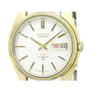 Vintage KING SEIKO Hi-Beet Day Date Gold Plated Mens Watch 5626-7000