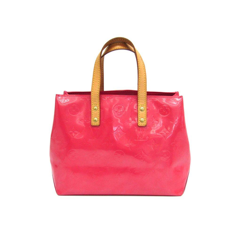 Louis Vuitton Monogram Vernis Reade PM M9132F Women's Handbag Framboise