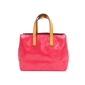Louis Vuitton Monogram Vernis Reade PM M9132F Women's Handbag Framboise