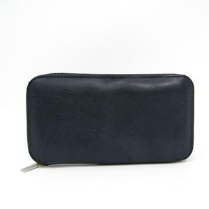 ヴァレクストラ(Valextra) V9L06 ユニセックス  カーフスキン 長財布(二つ折り) ネイビー