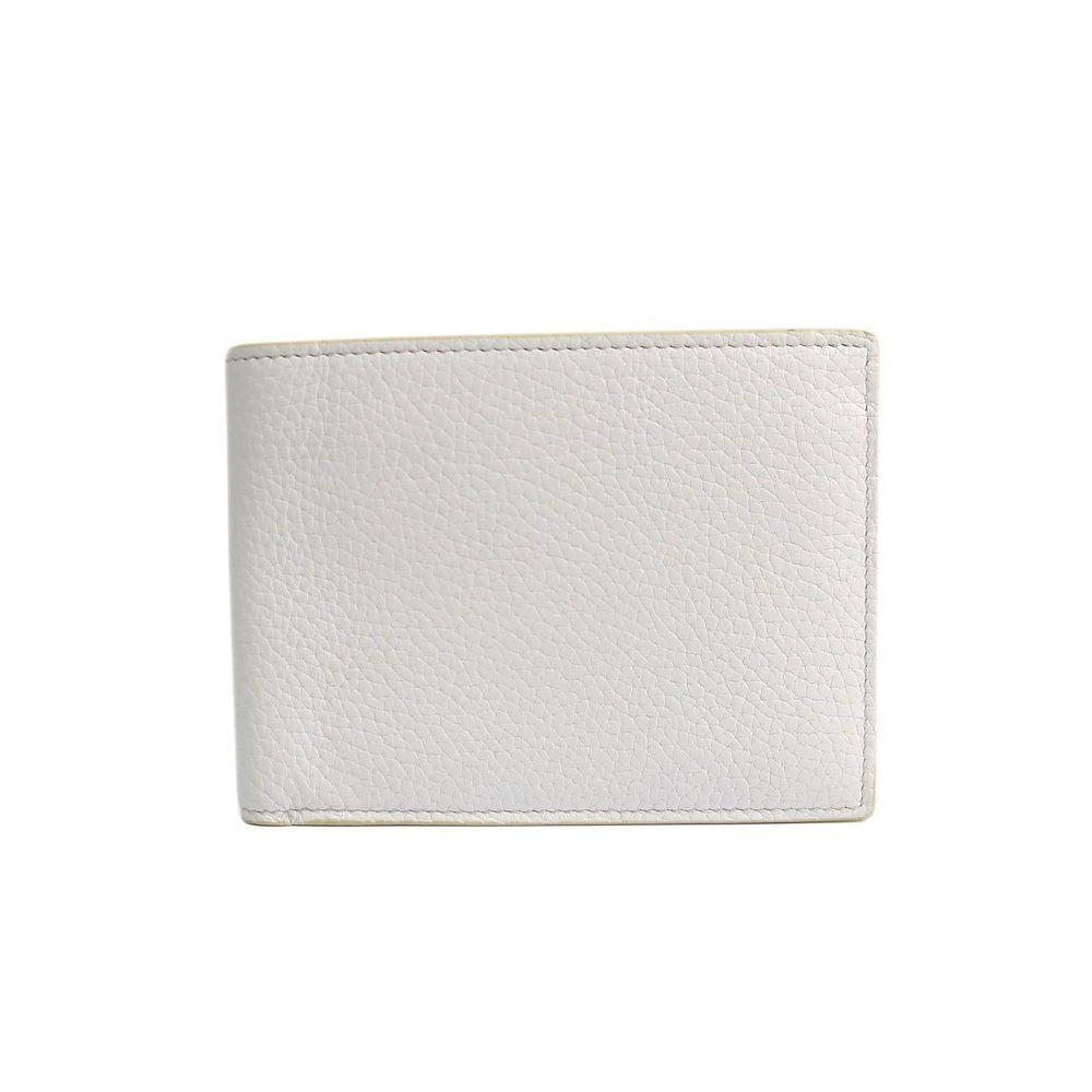 ボッテガ・ヴェネタ(Bottega Veneta) 113112  カーフスキン 財布(二つ折り) ホワイト
