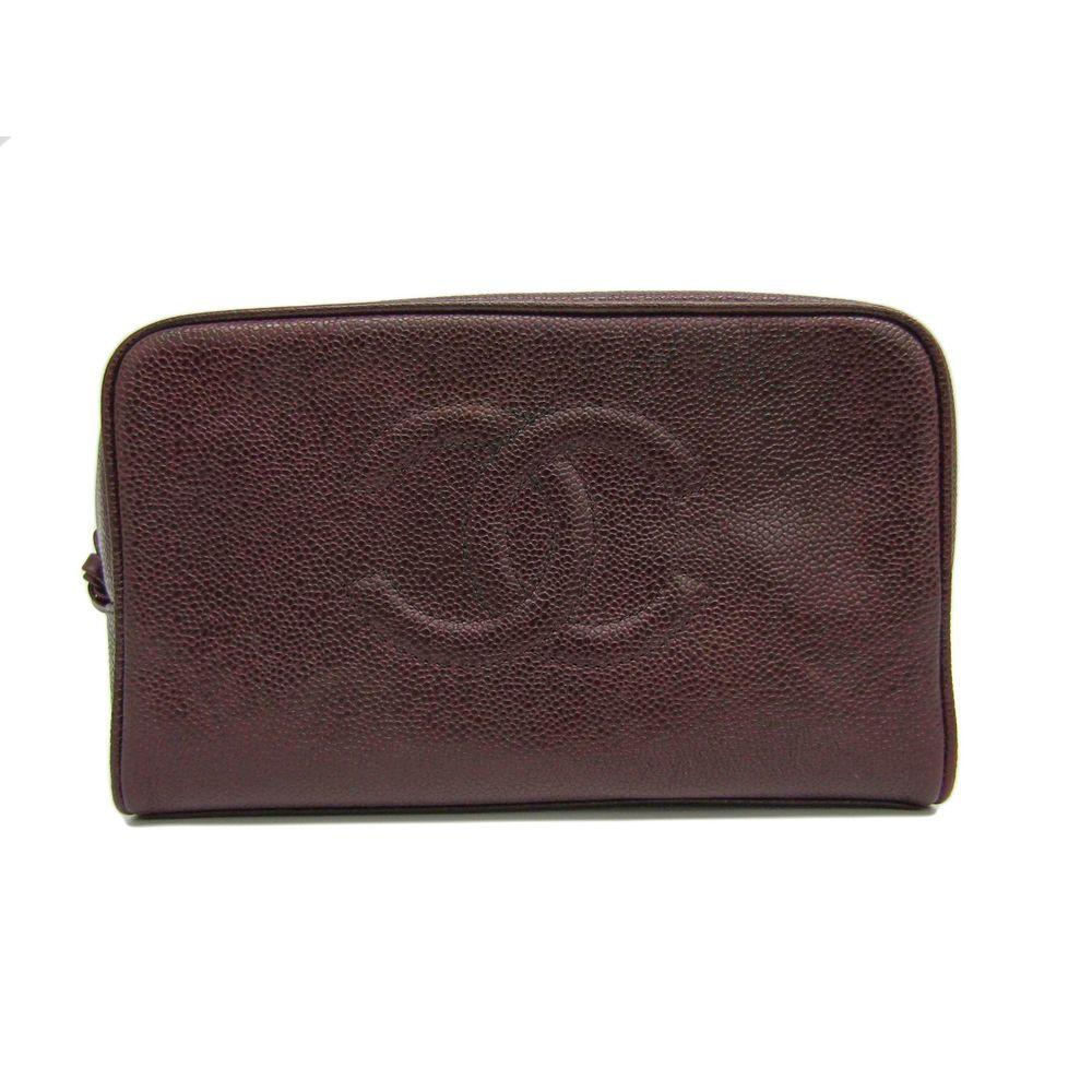 Chanel Women's Pouch Bordeaux Brown