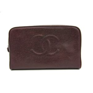 Chanel Women's Pouch Bordeaux Brown