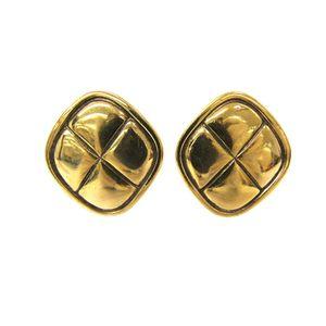 Chanel Metal Clip Earrings Gold