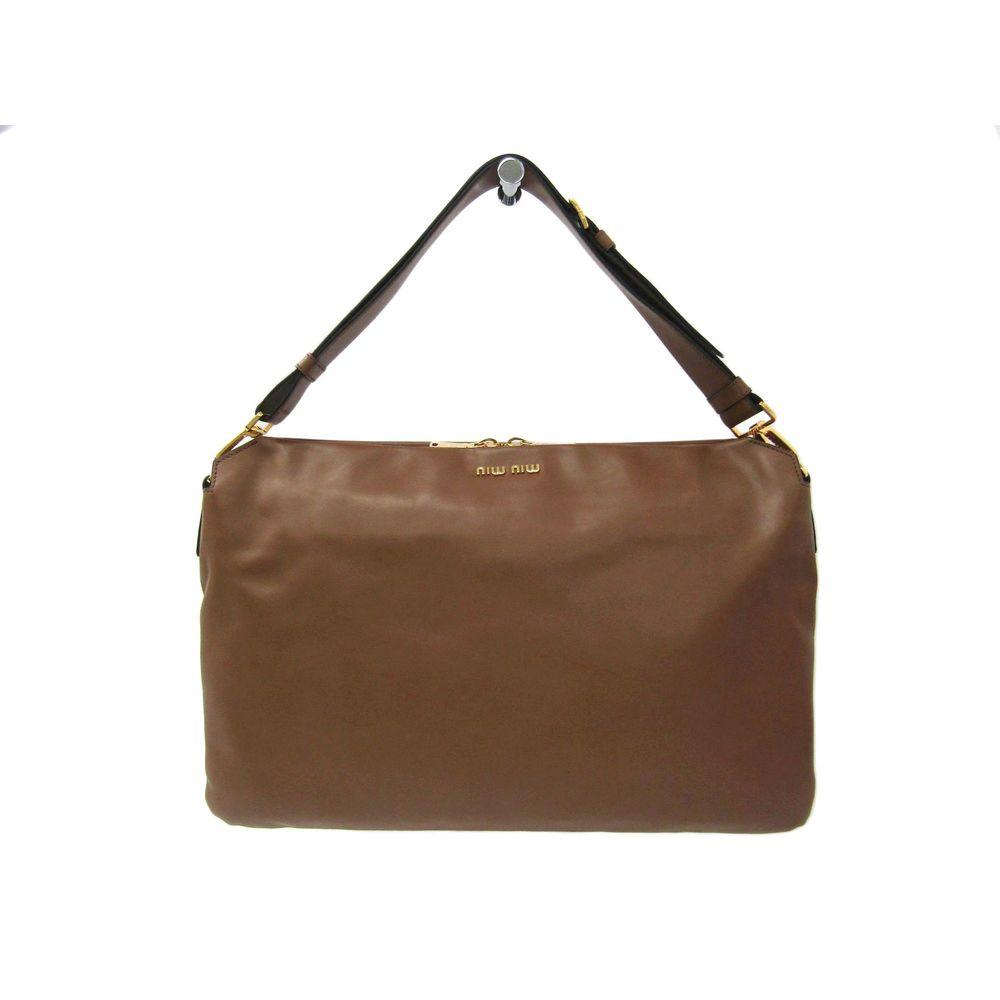 Miu Miu RR1917 Shoulder Bag Brown 8ad80f167f