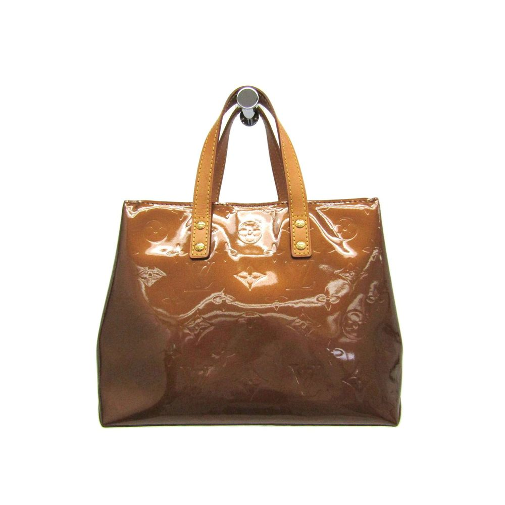 Louis Vuitton Monogram Vernis Reade PM M91146 Women's Handbag Bronze