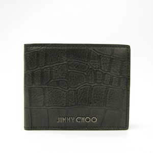 Jimmy Choo MARK CCL J000051780001 Men's  Embossed Leather Bill Wallet (bi-fold) Khaki