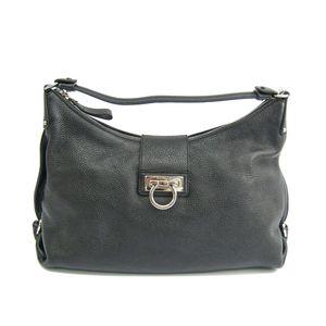 Salvatore Ferragamo Gancini FANISA 21 D757 Women's Shoulder Bag Black