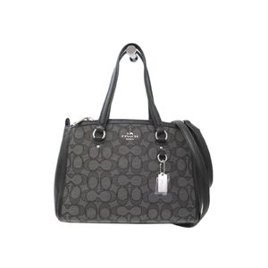 Coach Signature Stanton Carryall 26 36905 Women's Handbag Black,Gray