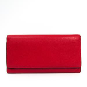 Valextra Removable 12 Card Holder V9L15 Unisex Leather Long Wallet (bi-fold) Red