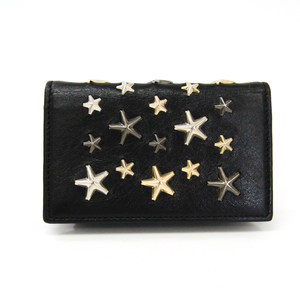 Jimmy Choo Leather Studded Card Case Black
