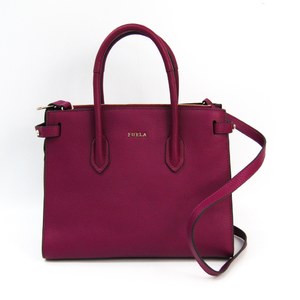 Furla Pin Women's Leather Handbag Wine