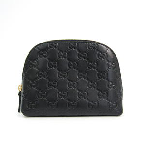 Gucci Guccissima 141810 Women's Leather Pouch Black