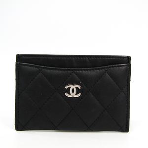 シャネル(Chanel) マトラッセ A31510 レザー カードケース ブラック
