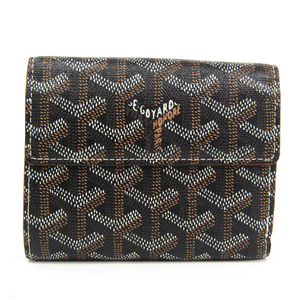 Goyard Women's Leather,Canvas Wallet (bi-fold) Black
