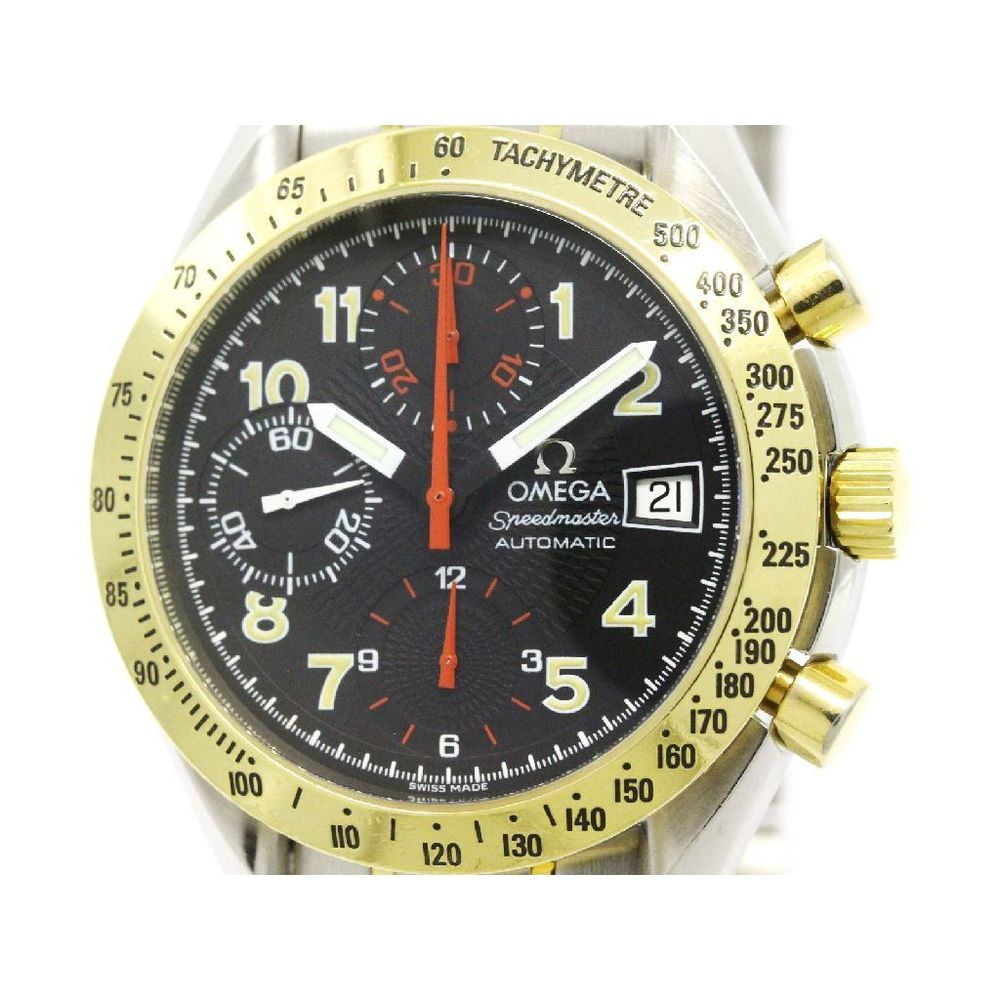 Omega Speedmaster Automatic Stainless Steel,Yellow Gold (18K) Men's Sports Watch 3313.53