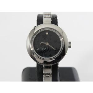グッチ(Gucci) ステンレススチール(SS) 腕時計 105 1Pダイヤ時計 QZ バングルウォッチ