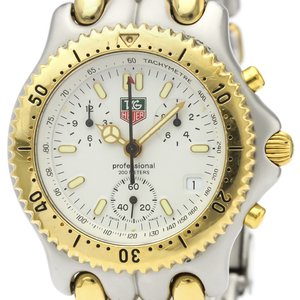 TAG HEUER Sel Chronograph Gold Plated Steel Mens Watch S35.006
