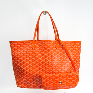 Goyard Saint Louis Saint Louis PM Leather,Canvas Tote Bag Orange