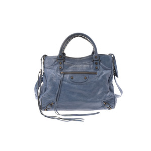 Balenciaga Vero Leather Bag Blue