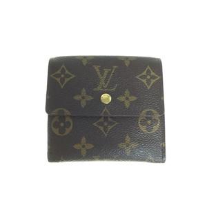 Auth Louis Vuitton Monogram M61652 Porto Monbier Cult Credit Wallet (tri-fold)