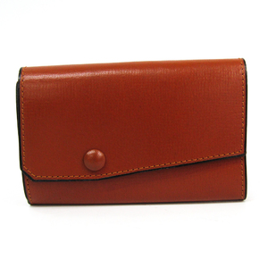 Valextra Men's Leather Key Case Brown