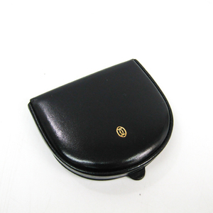 Cartier Pasha L3000129 Men's  Calfskin Coin Purse/coin Case Black