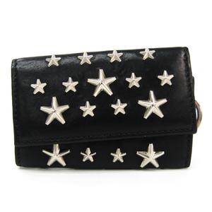 Jimmy Choo Neptune Unisex Leather Key Case Black