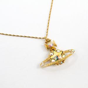 Vivienne Westwood Orb Aurora Star Motif Metal,Rhinestone Women's Necklace (Gold)