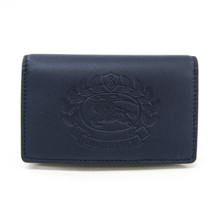 Burberry Women's Leather Wallet (bi-fold) Navy