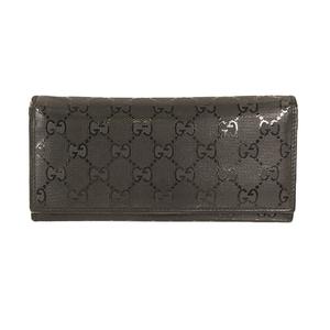 Gucci GG Imprimé 長財布 Long Wallet 244995 Men,Women,Unisex PVC Long Wallet (bi-fold) Black