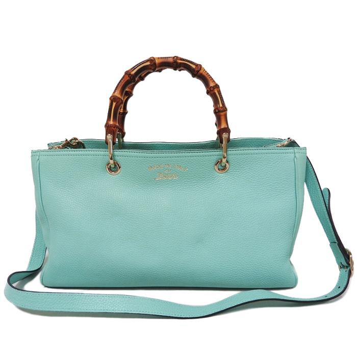 3c48ed35493 Gucci Bamboo 2WAY Shopper Medium Tote Calf Handbag