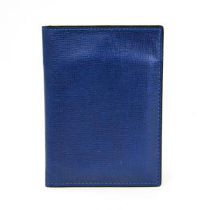 Valextra V8L05 Leather Card Case Royal Blue