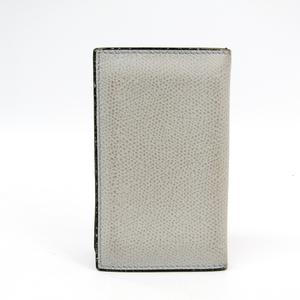 Valextra V8L03 Leather Card Case Light Gray