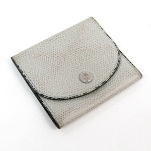 Valextra V0L90 Unisex Leather Coin Purse/coin Case Light Gray
