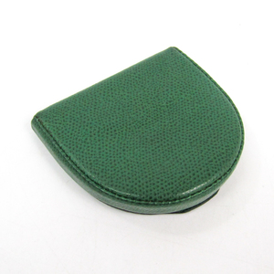 Valextra V0L89 Unisex Leather Coin Purse/coin Case Green