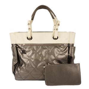 シャネル(Chanel) パリ・ビアリッツ ハンドバッグ Handbag レディース ハンドバッグ,トートバッグ グレー