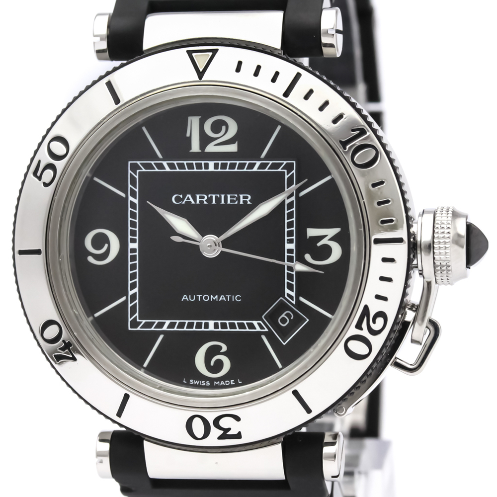 CARTIER Pasha Seatimer Steel Automatic Mens Watch W31077U2