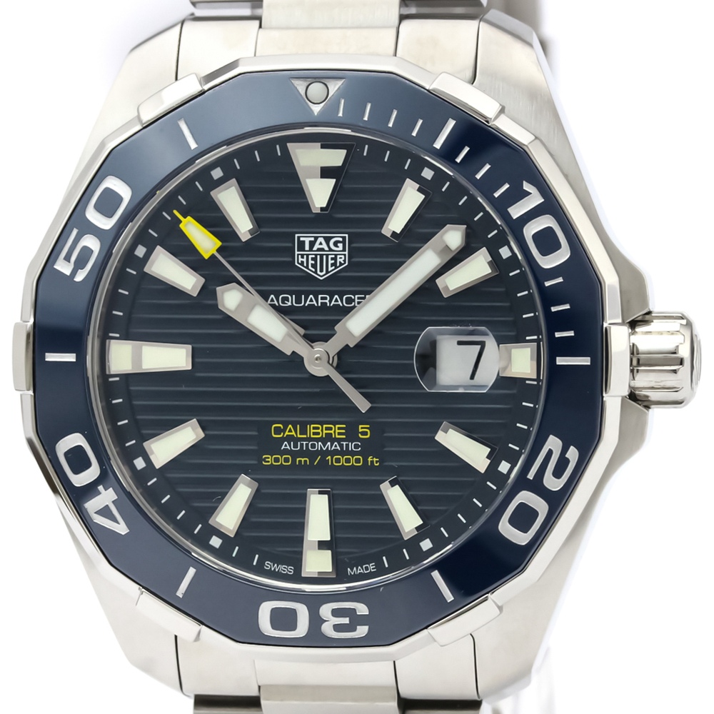 TAG HEUER Aquaracer Calibre 5 Steel Automatic Watch WAY201B
