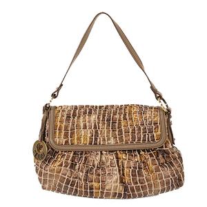 Auth Fendi Shoulder Bag Brown
