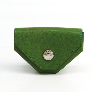 Hermes LE 24 Chevre Leather Coin Purse/coin Case Anis Green