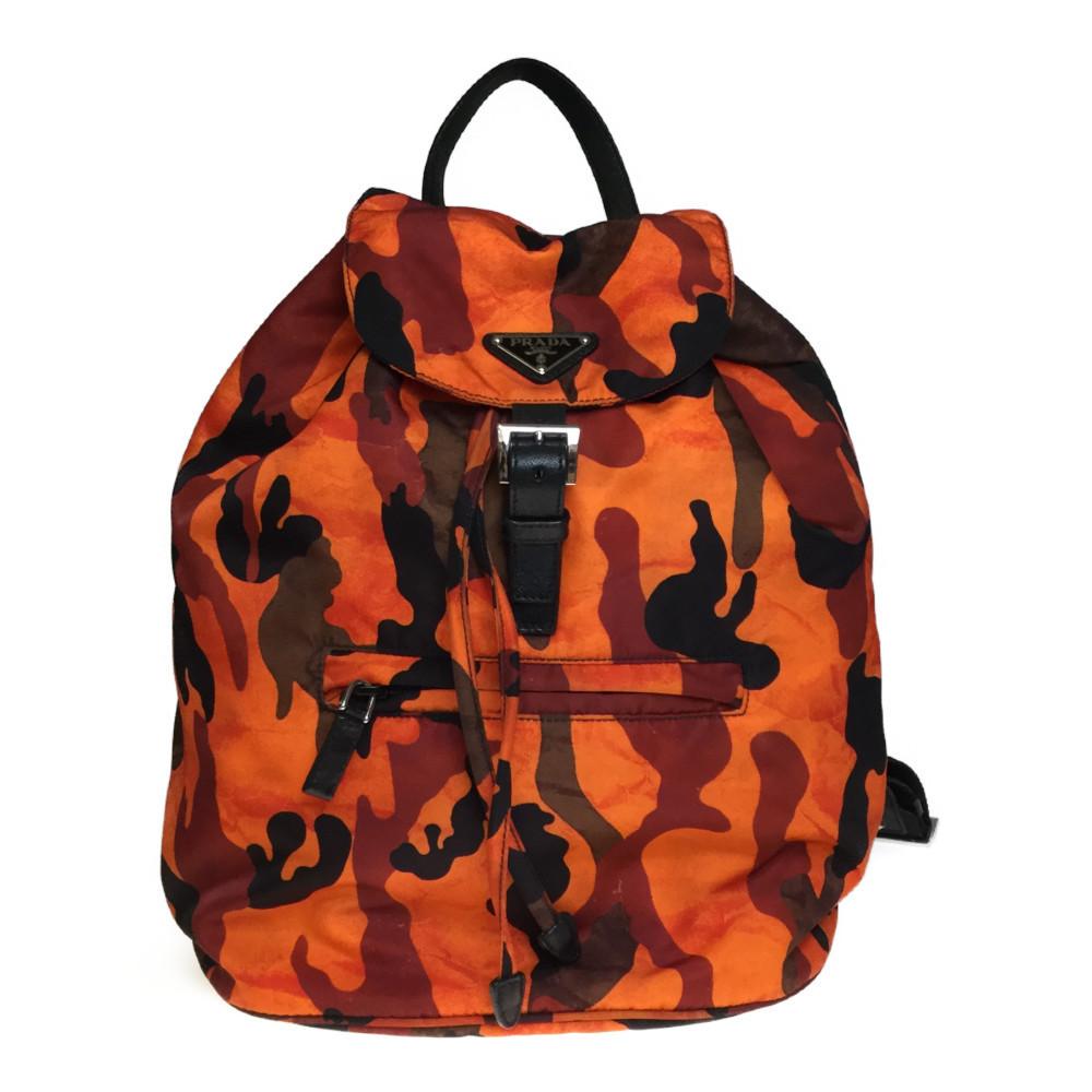 b972e74d3783 Auth Prada BZ0032 Nylon Backpack Orange   eBay