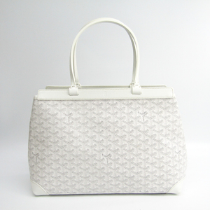Goyard Bellechasse Bellechasse PM Women's Canvas,Leather Tote Bag White