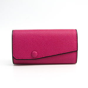 Valextra V1L76 Women's Leather Key Case Pink