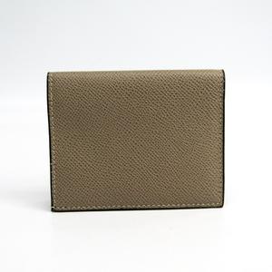 Valextra V2L 28 Leather Card Case Beige