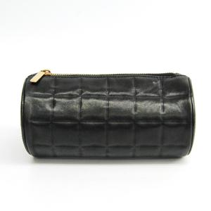 シャネル(Chanel) チョコバー レディース レザー ポーチ ブラック