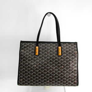 Goyard Marquise Women's Canvas,Leather Tote Bag Black