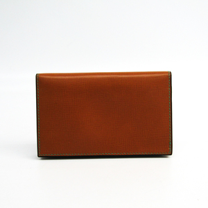Valextra V8L03 Leather Card Case Brown
