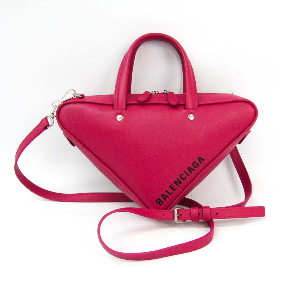 バレンシアガ(Balenciaga) トライアングル ダッフル 531048 レディース レザー ハンドバッグ,ショルダーバッグ ピンク