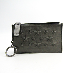 Jimmy Choo CAMELOT J000090068001 Unisex Leather Coin Purse/coin Case Gunmetal